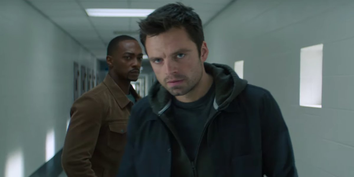 Anthony Mackie and Sebastian Stan in The Falcon and the Winter Soldier