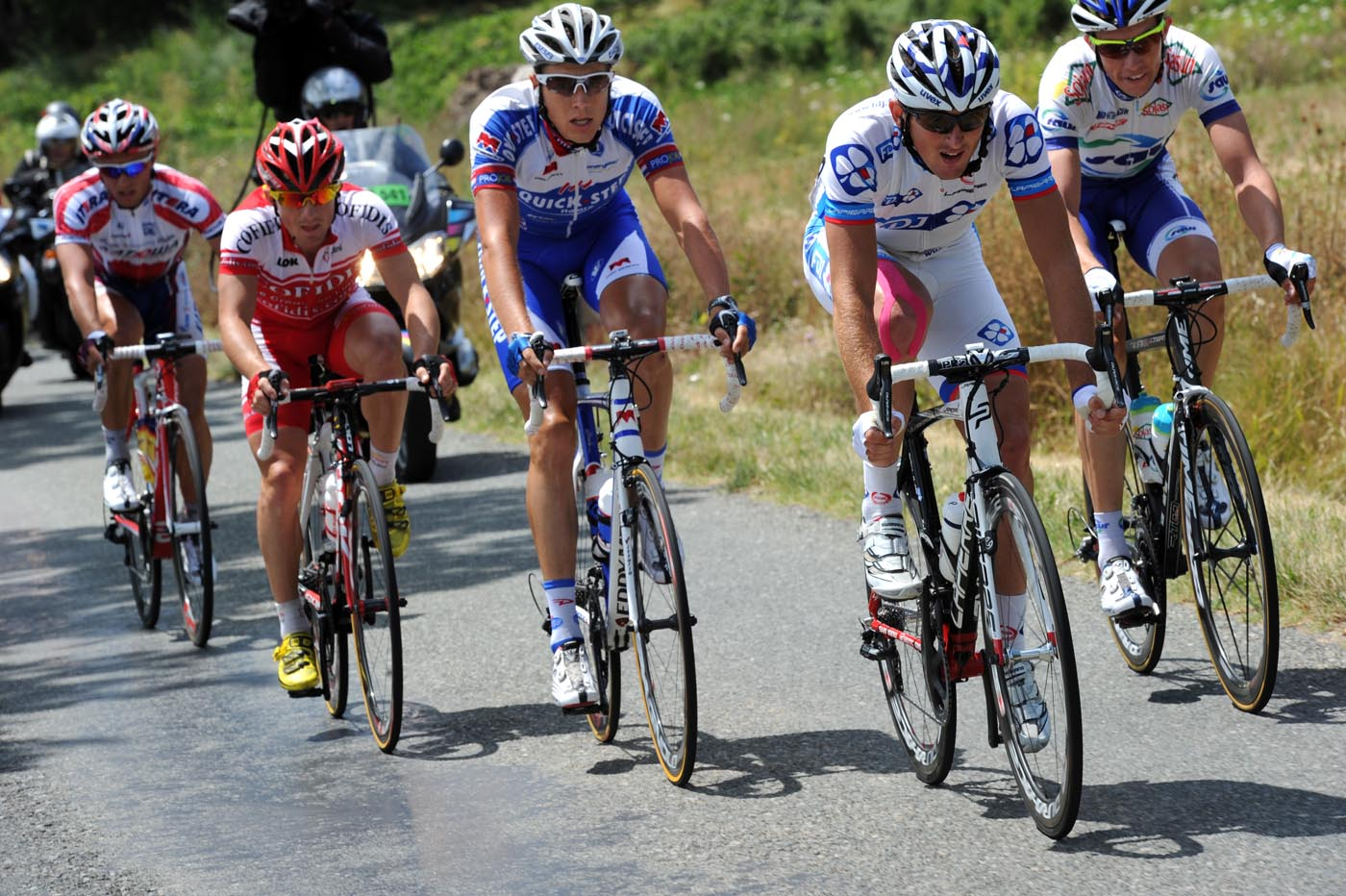 Mickael Delage in escape group, Tour de France 2011, stage 15