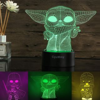 3D Illusion Star Wars Night Light for Kids