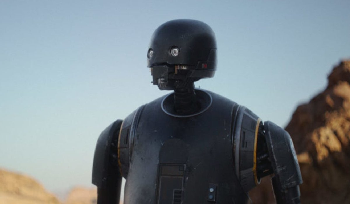 Rogue One: A Star Wars Story K-2SO standing in the desert