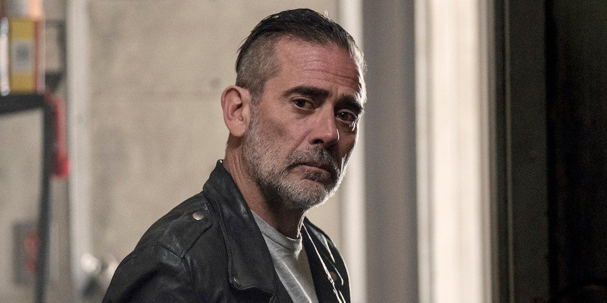 negan looking sad the walking dead season 10