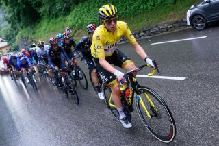 Tadej Pogačar (UAE Team Emirates) during stage 9 of the Tour de France