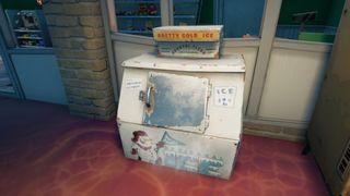 search an ice machine fortnite