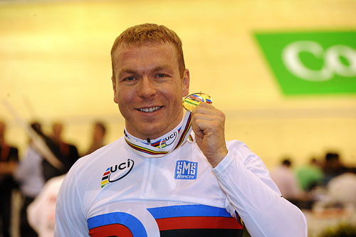 Chris Hoy wins the Keirin, Track Cycling World Championships 2010