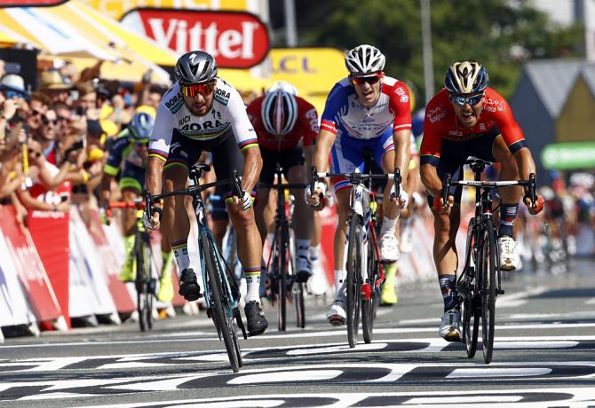 Peter Sagan (Bora-Hansgrohe) wins stage 2 at the Tour de France