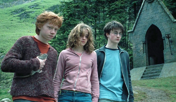 Rupert Grint Emma Watson Daniel Radcliffe in Harry Potter and the Prisoner of Azkaban