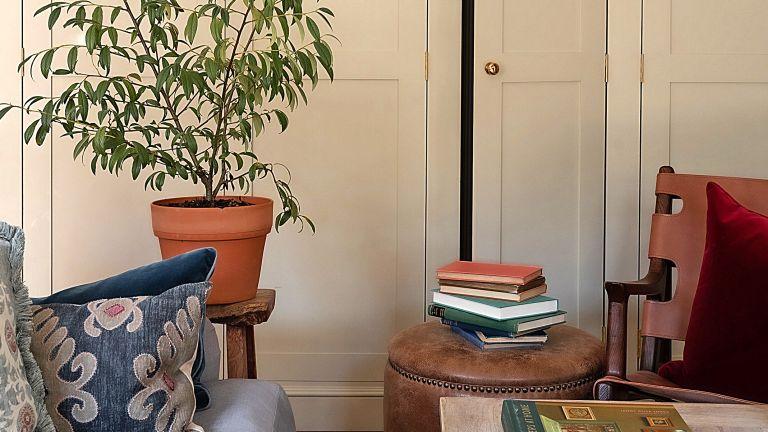 IKEA kitchen cabinet hack, deVOL- style cabinet on Instagram