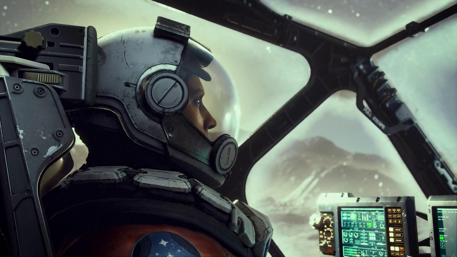An astronaut from the game Starfield.