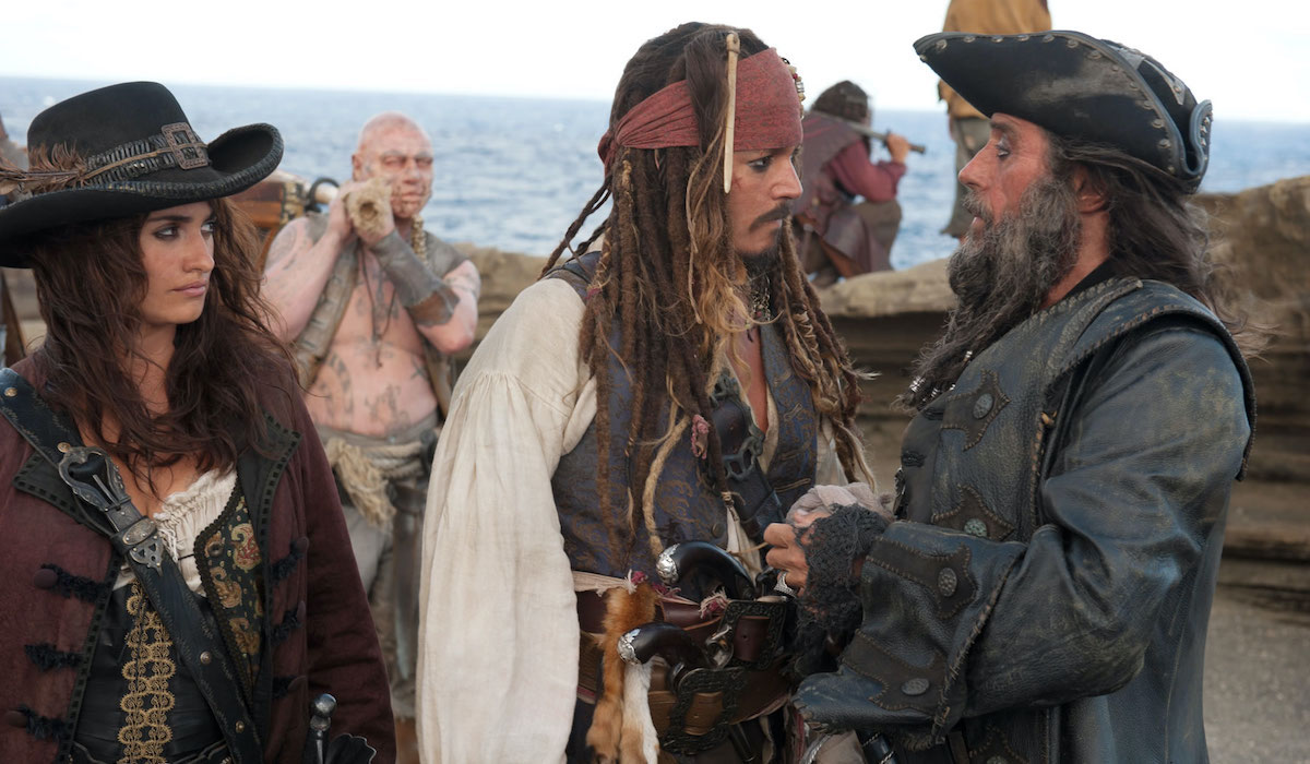 Penelope Cruz, Johnny Depp and Ian McShane in Pirates of the Caribbean: On Stranger Tides