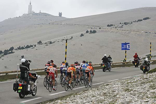 Lead group on Ventoux