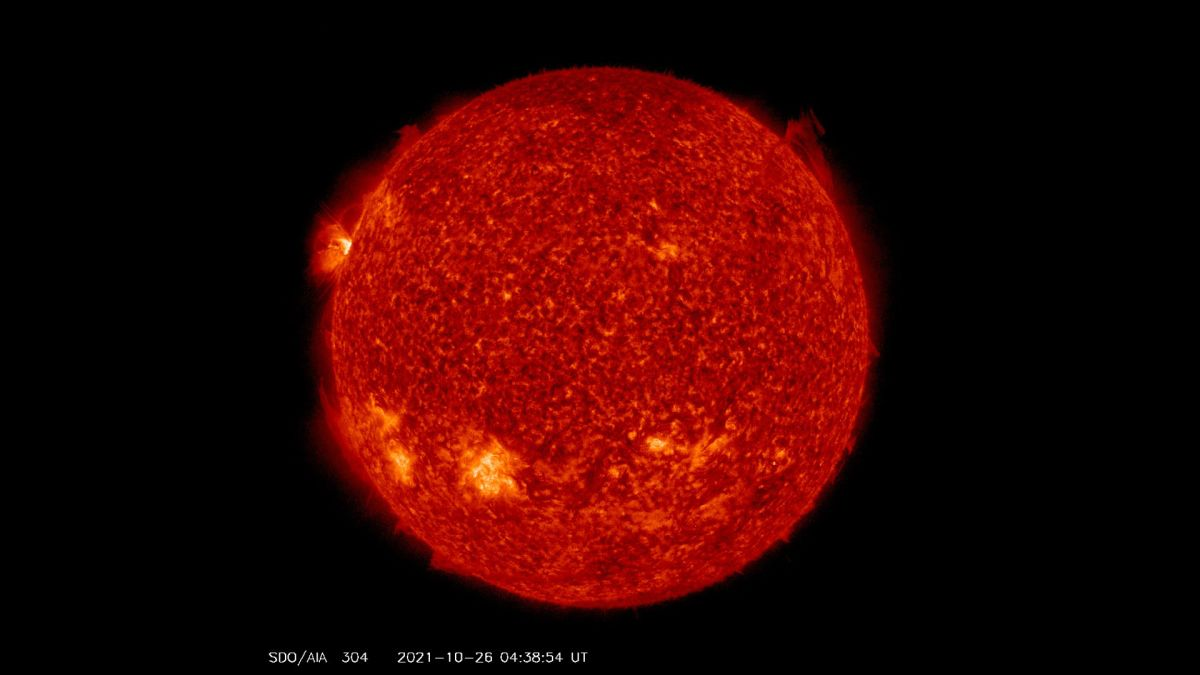 A new sunspot is firing off solar eruptions and here's what it looks like on video