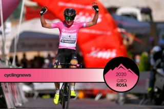 Annemiek van Vleuten celebrates another day in the maglia rosa after stage 4 of the 2020 Giro Rosa