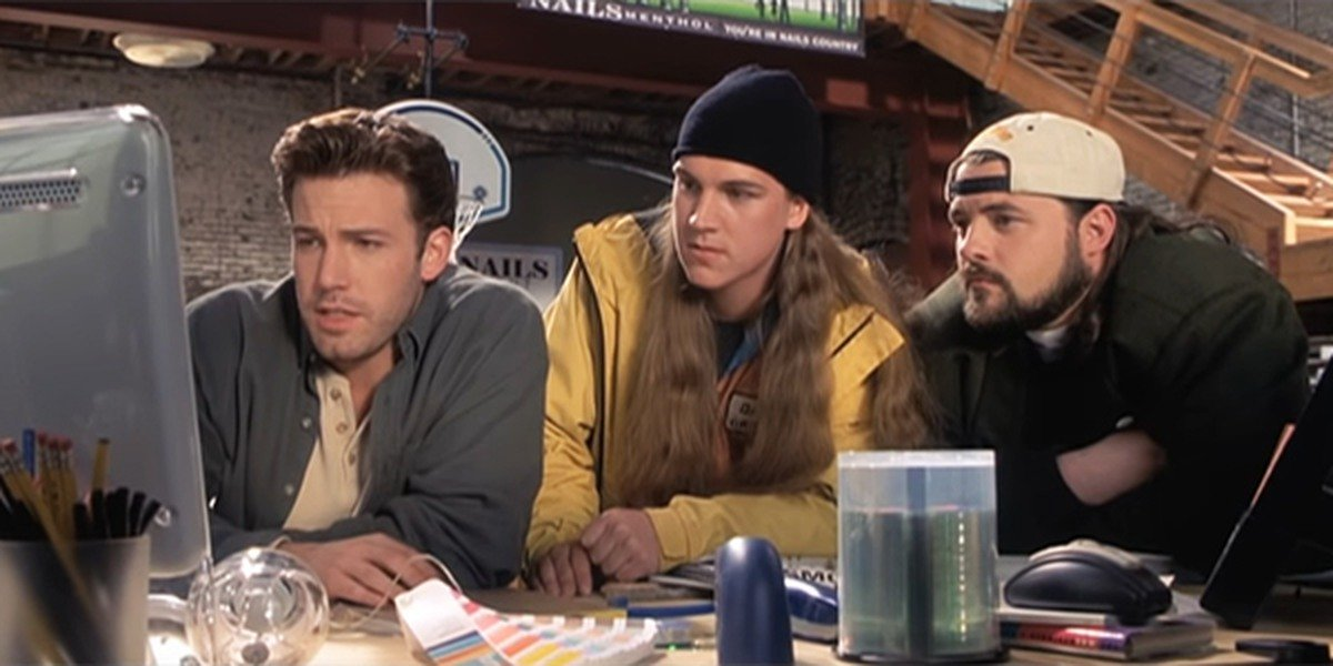 Ben Affleck, Jason Mewes, and Kevin Smith in Jay and Silent Bob Strike Back