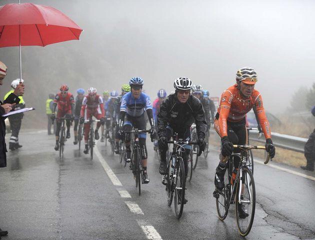 Samuel Sanchez and Levi Leipheimer finish stage three, Tour of Catalonia 2012