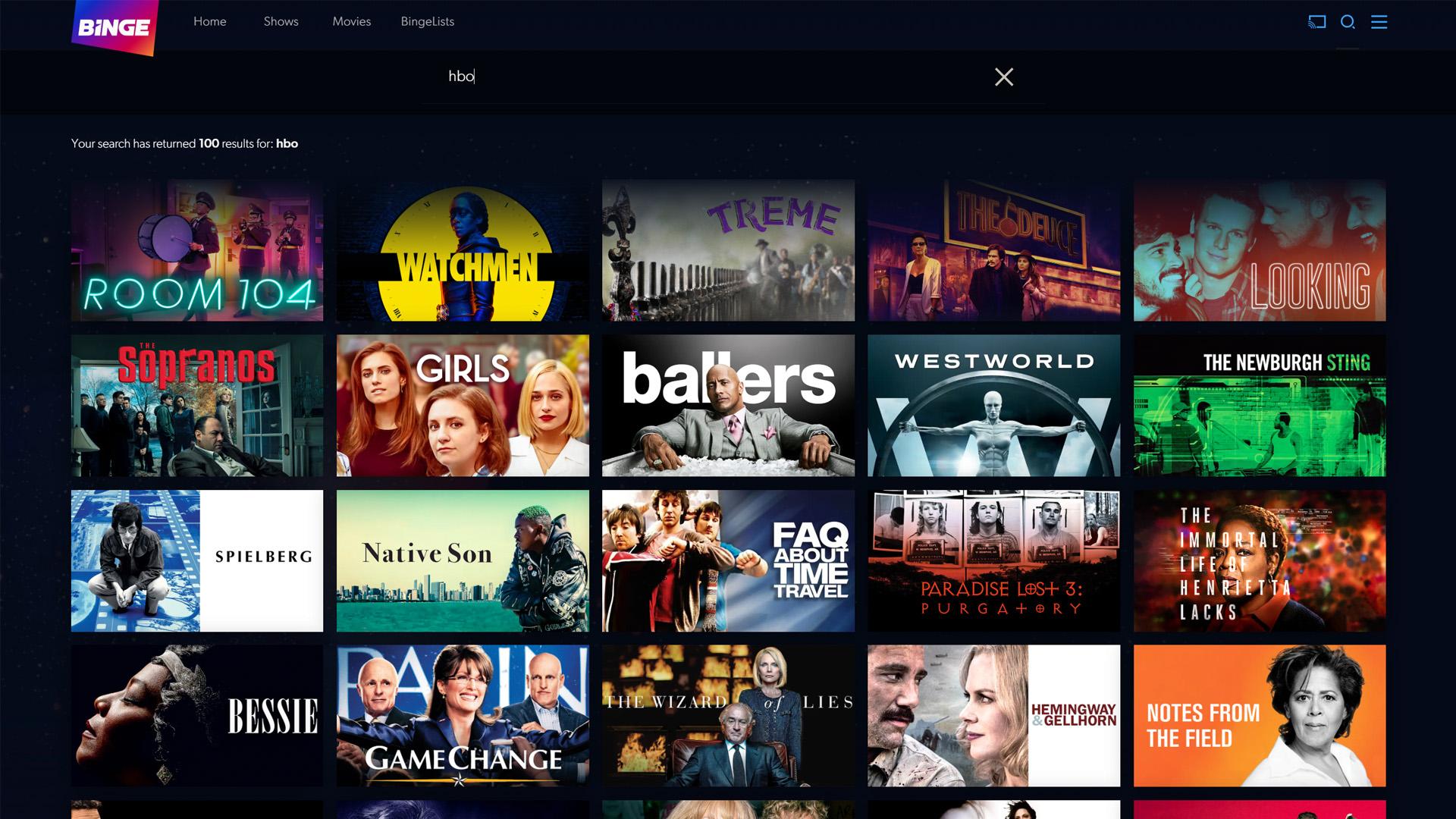 HBO on Binge
