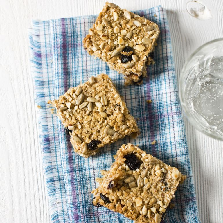 Photo of Apple and blueberry flapjacks