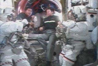 Astronauts to Repair Solar Wing Motor in Wednesday Spacewalk
