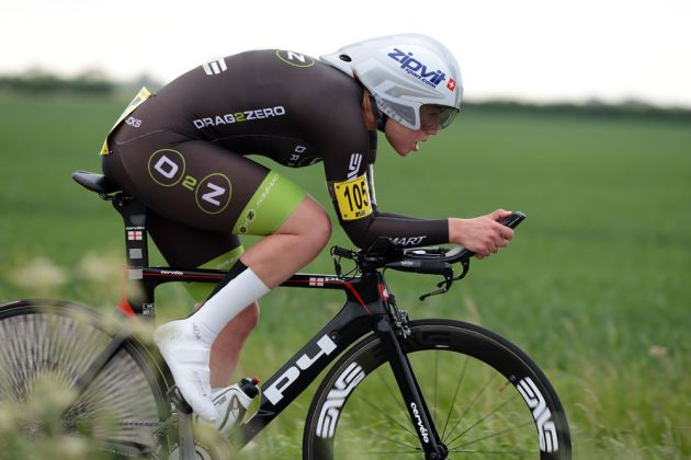 Julia Shaw, women's winner, National 25-mile time trial championships 2013
