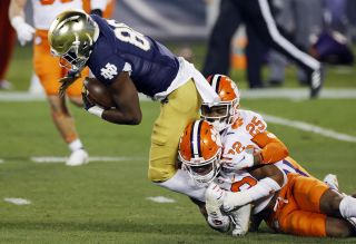 Notre Dame wide receiver Javon McKinley and the rest of the Fighting Irish look to upset Alabama in the Rose Bowl on New Year's Day.