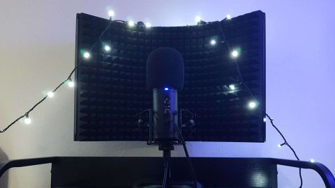 The Trust Rudox GXT 259 Microphone with reflector shield and pop filter