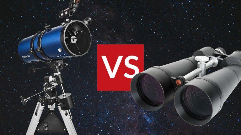 Binoculars vs telescopes for stargazing: Celestron Skymaster and Orion StarBlast II