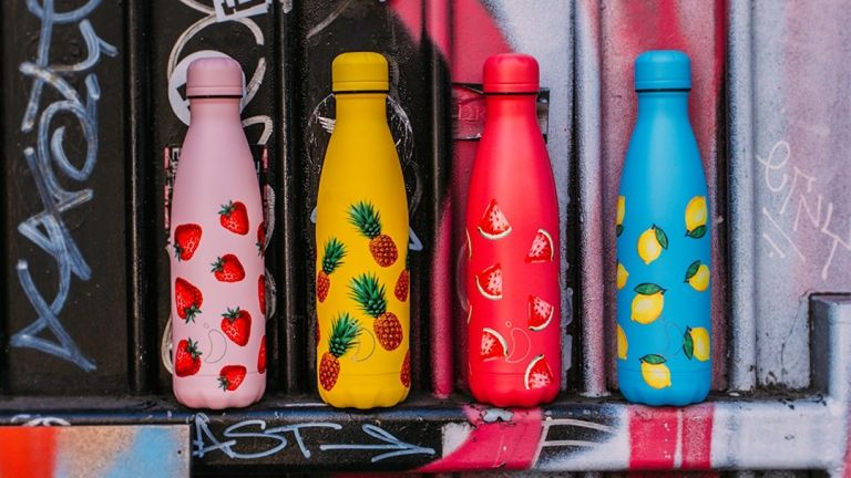 Chilly's reusable water bottles in a range of patterns, Chilly water bottle