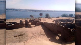 The remains of the Roman Fort, which held the remnants of the early Coptic church.