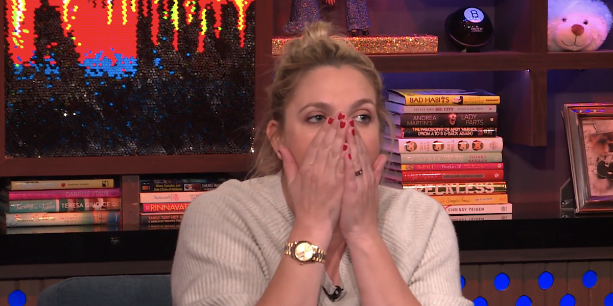 drew barrymore what what happens live bravo interview