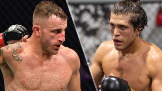 Alexander Volkanovski and Brian Ortega, who will clash in the main event of UFC 266