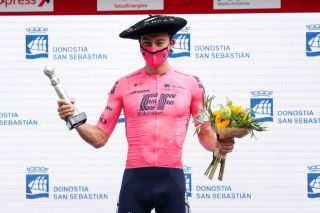 Neilson Powless after his victory in San Sebastian