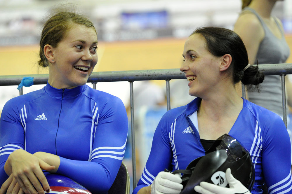 Jess Varnish and Victoria Pendleton, British track national championships 2011, day four