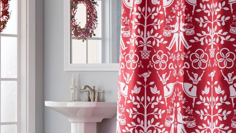 Christmas shower curtains: Vern Yip Christmas Carol Lotion/Soap Dispenser