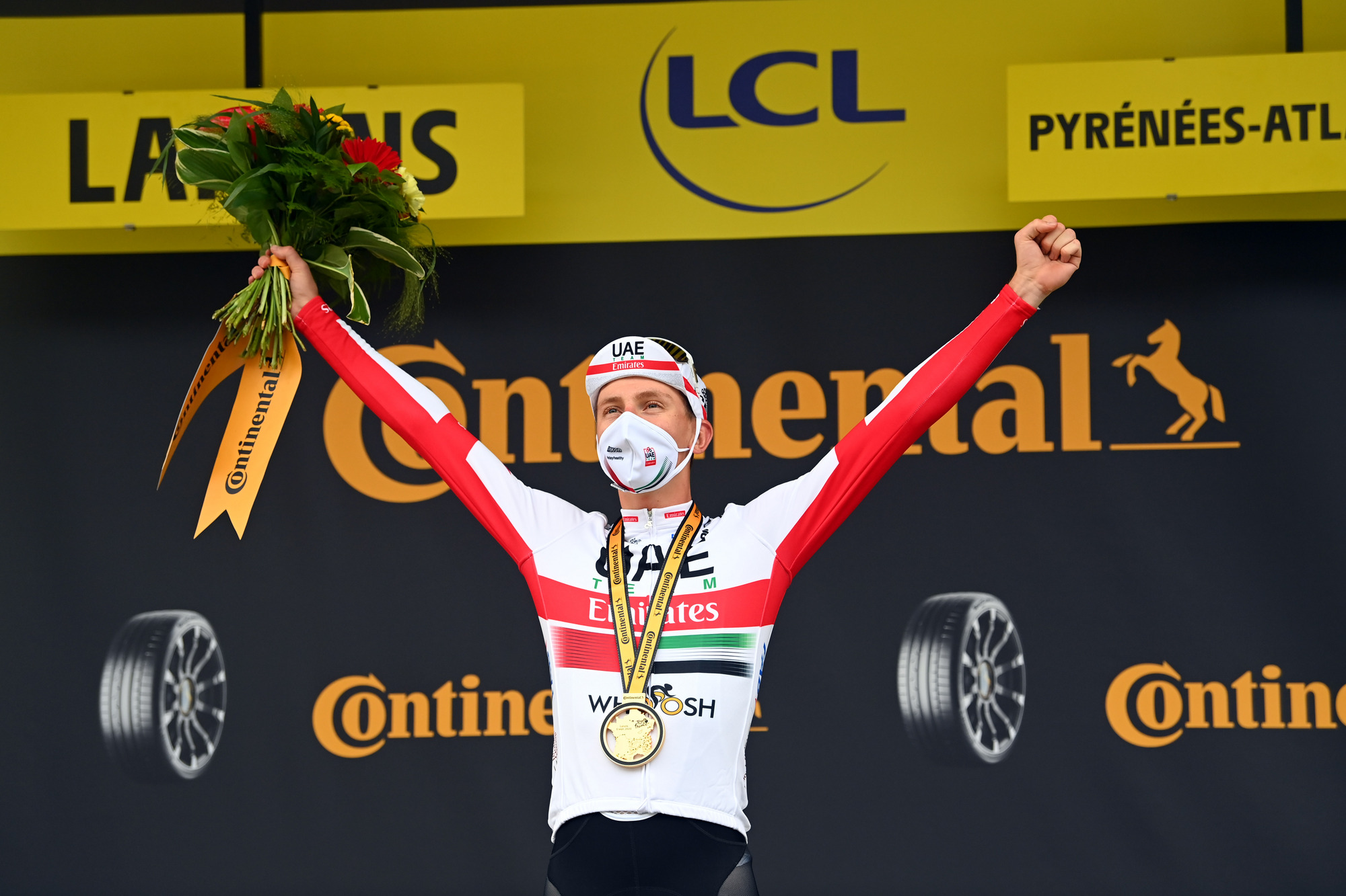 Tour de France 2020 - 107th Edition - 9th stage Pau - Laruns 153 km - 05/09/2020 - Tadej Pogacar (SLO - UAE - Team Emirates) - photo POOL/BettiniPhoto©2020