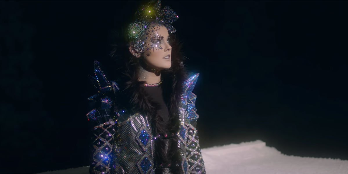 Jojo Siwa looking serious in music video