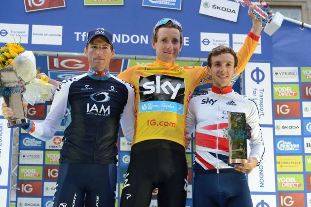 Overall podium, Tour of Britain 2013, stage eight