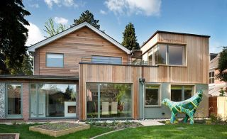 An Expanded 1970s Home with timber frame extension
