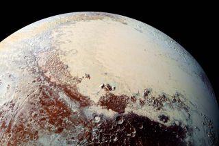 Using New Horizons' MVIC Pluto's Sputnik Planum comes to life in vibrant colors.
