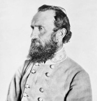 "Thomas J. ""Stonewall"" Jackson is shown here in a photograph historians date to April 1863, just a few weeks before the Battle of Chancellorsville."