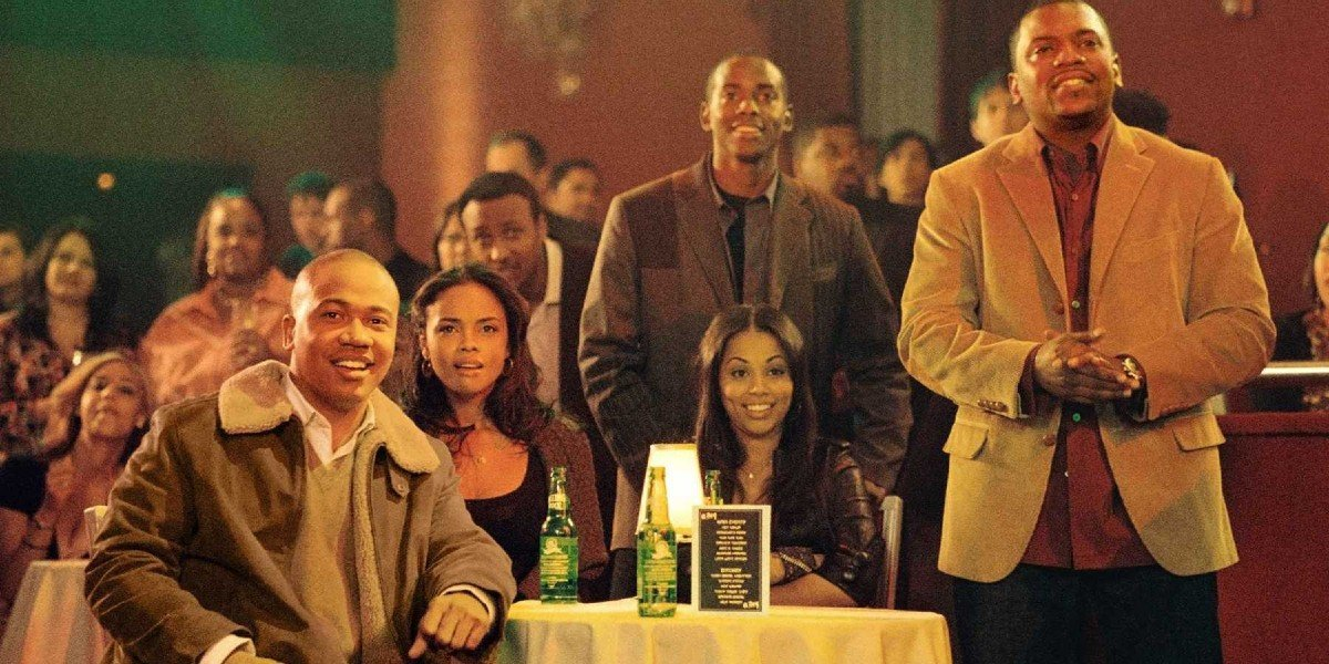 Columbus Short, Keith Robinson, Sharon Leal, Lauren London, and Mekhi Phifer in This Christmas