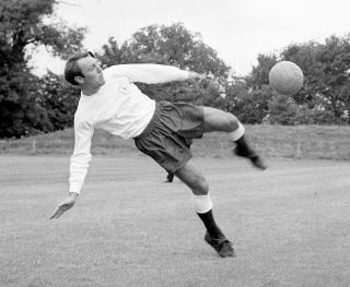 Jimmy Greaves in training
