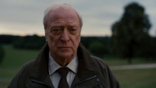 Michael Caine as Alfred Pennyworth in Dark Knight Rises