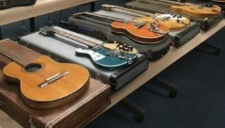 Nine stolen guitars recovered by the Santa Cruz Police Department