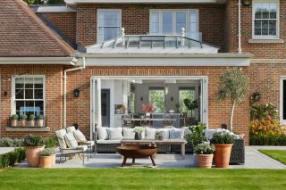 a single storey extension with a roof lantern