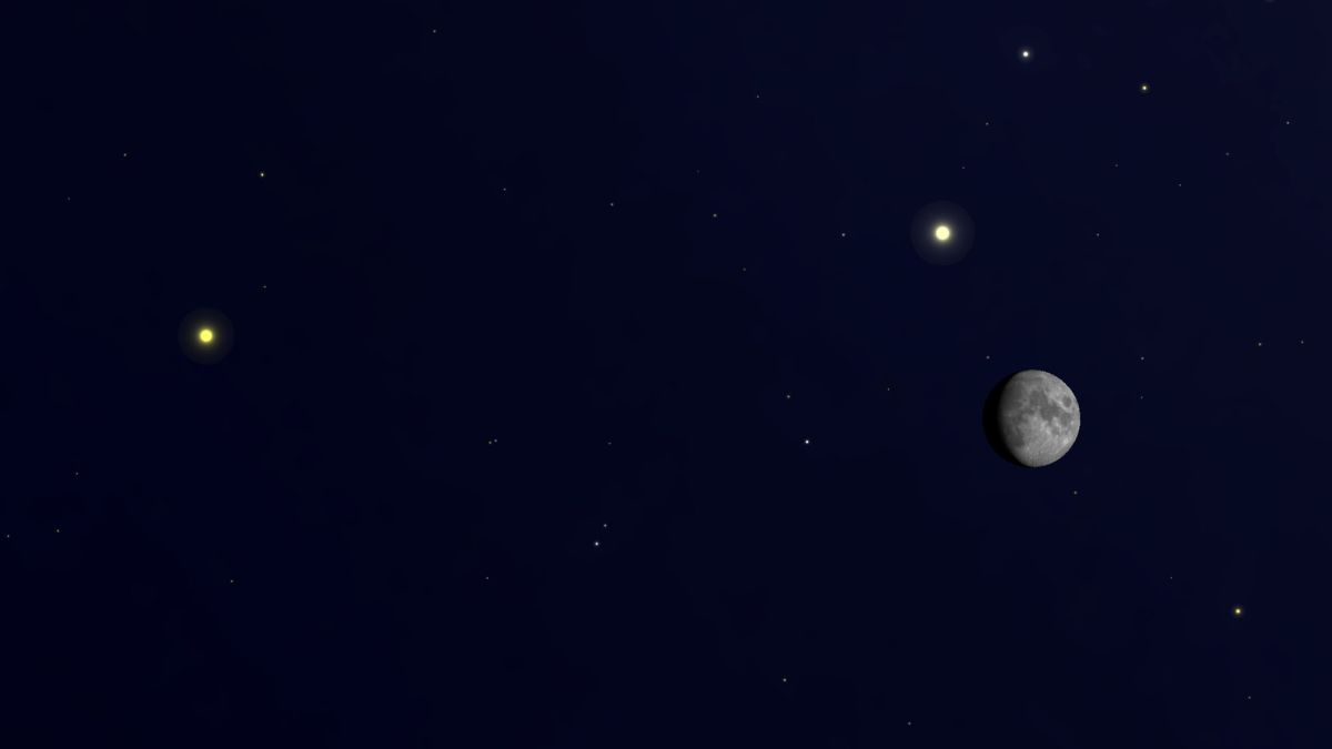 See Jupiter and Saturn with the moon this weekend
