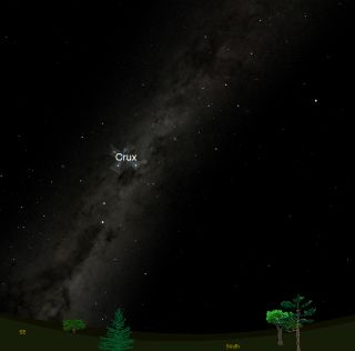Southern Cross Constellation Sky Map