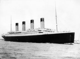 The Titanic sets sail on its final voyage.