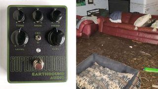 Earthbound Audio founder Mark's flooded living room