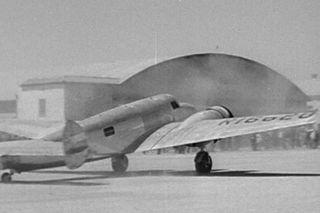 Amelia Earhart's plane in movie Love on the Run