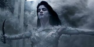 Sofia Boutella with her arms outstretched as The Mummy