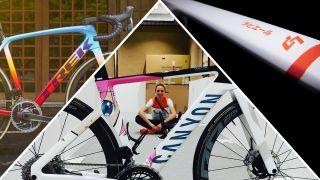 Tokyo Olympics custom painted bikes